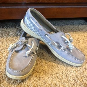 Grey Sperry Boat Shoes